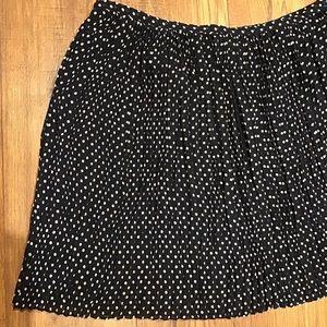 Madewell pleated polkadot mini skirt navy blue 6